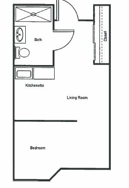 The Rosewood Large Studio Apartment