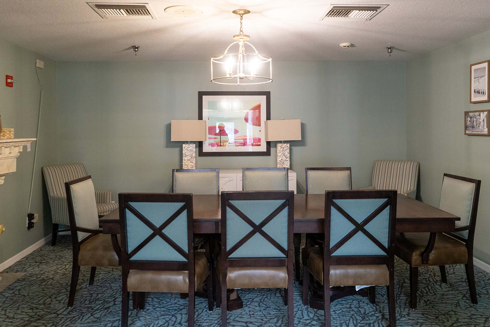 Private dining room at Heron House assisted living and memory care community in Sarasota, FL