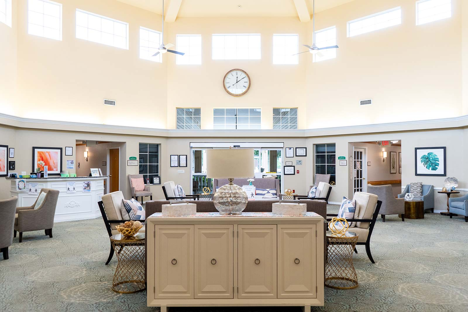 Atrium at Heron House assisted living and memory care community in Sarasota, FL